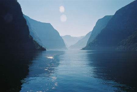 dream of the fjords at night.